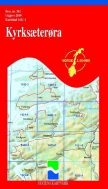 kyrksæterøra kart Kyrksæterøra (Kart, falset)   Turkart | NorskeSerier