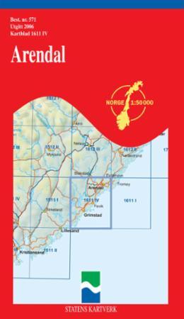 Karta Arendal Norge.Arendal Kart Falset Turkart Norskeserier