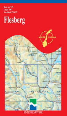 flesberg kart Flesberg (Kart, falset)   Turkart | NorskeSerier flesberg kart