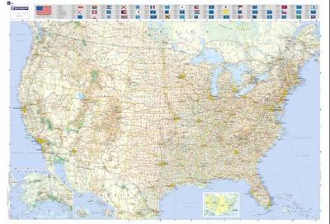 laminerte kart MI 13761 USA laminert av Michelin (Kart, plano)   Utland  laminerte kart