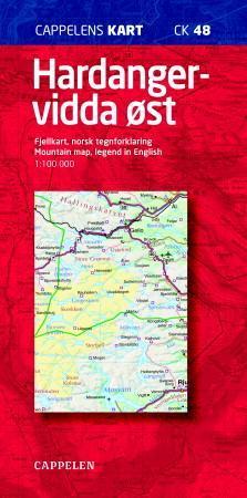 hardangervidda øst kart Hardangervidda øst (Kart, falset)   Turkart | NorskeSerier hardangervidda øst kart