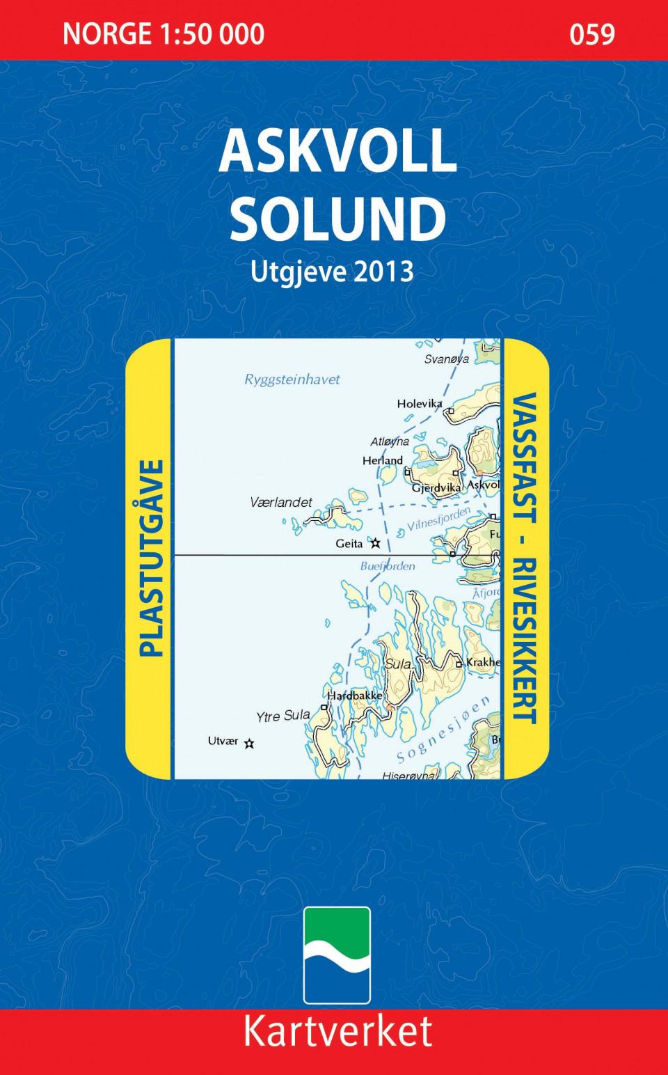 Askvoll Solund Kart Falset Turkart Norskeserier