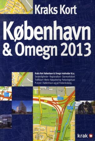kart københavn og omegn Kraks kart København & omegn 2013 (Heftet)   Utland | NorskeSerier kart københavn og omegn