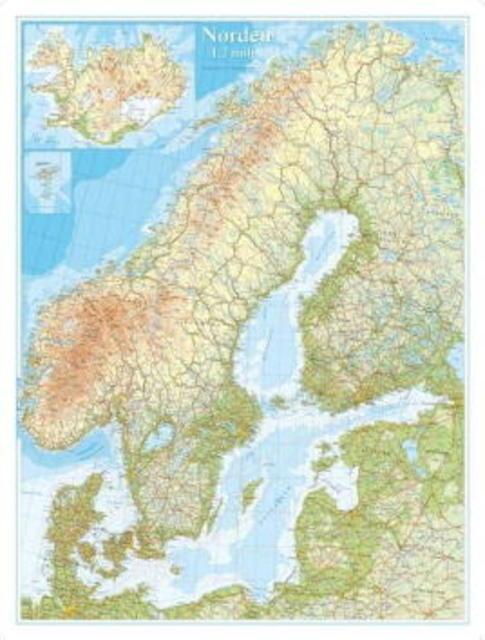 kart norden Norden ( planokart) (Kart, plano)   Utland | NorskeSerier